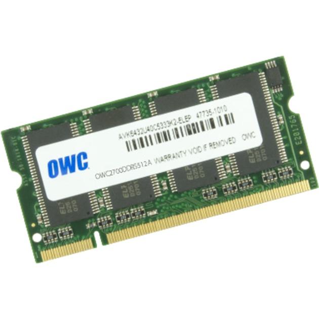 OWC2700DDRS512A 0.5GB DDR 333MHz módulo de memoria, Memoria RAM