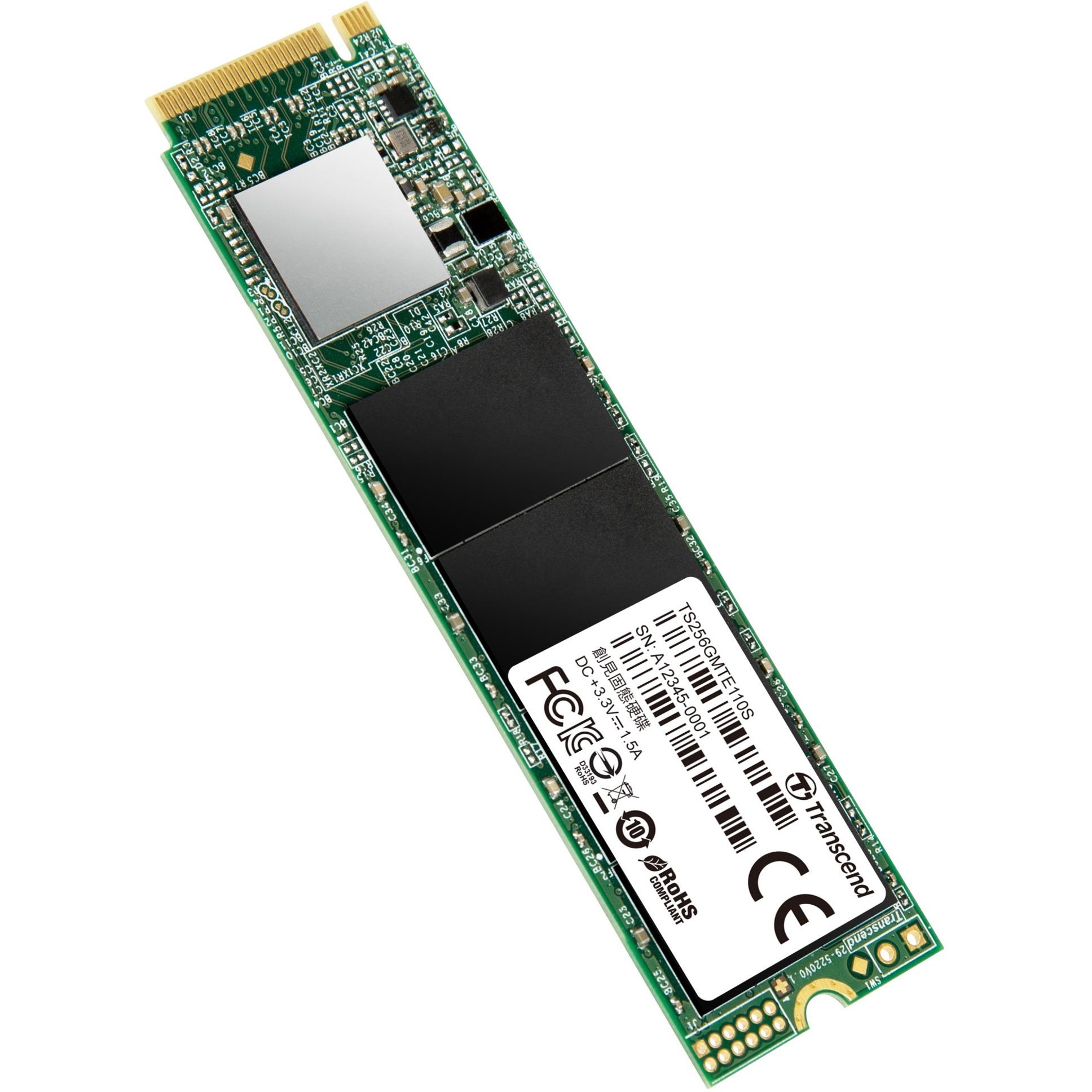 110S 256 GB PCI Express 3.0 M.2, Unidad de estado sólido