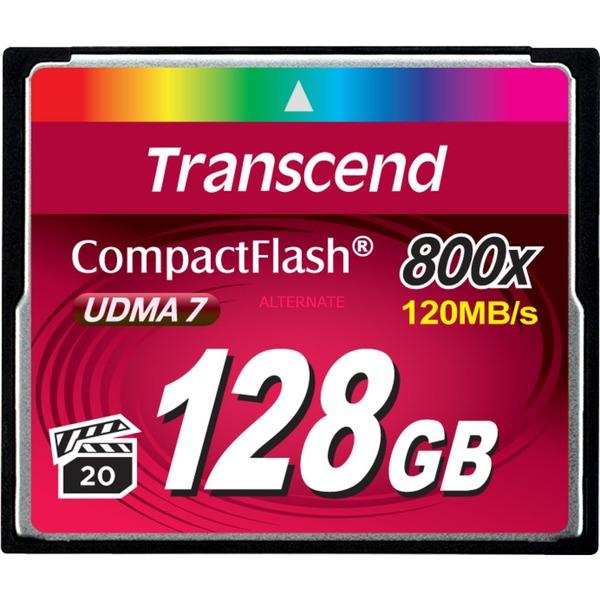 128GB 800x CF memoria flash CompactFlash MLC, Tarjeta de memoria