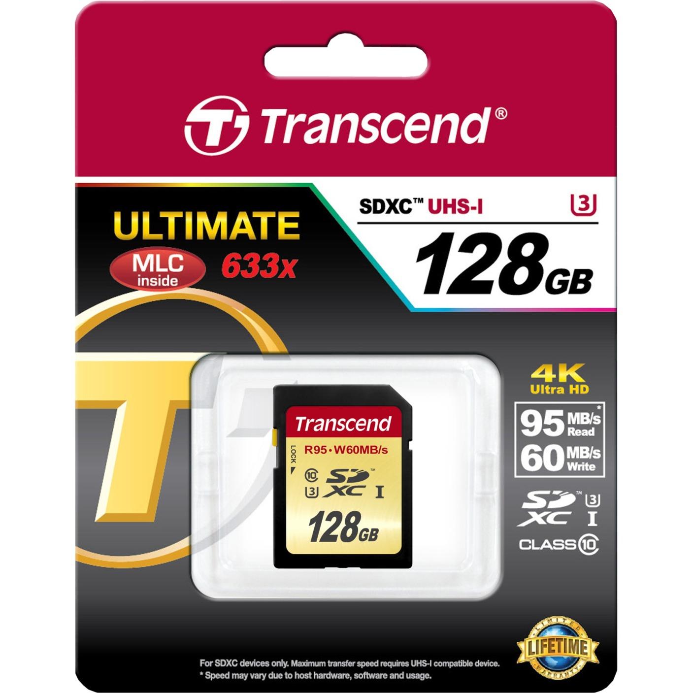128GB, SDXC UHS-I (U3) 128GB SDXC UHS Clase 10 memoria flash, Tarjeta de memoria