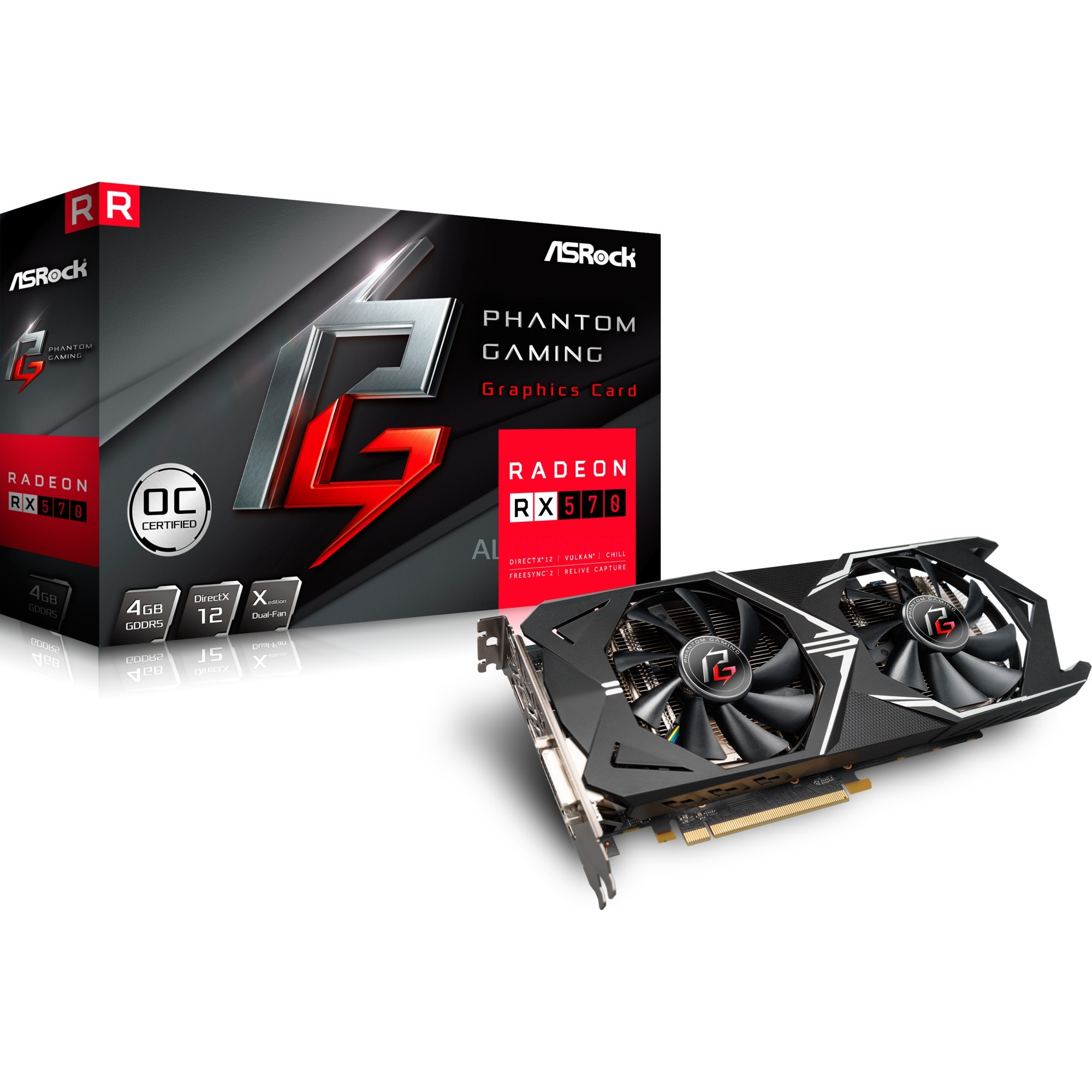 90-GA0800-00UANF Radeon RX 570 4GB GDDR5 tarjeta gráfica
