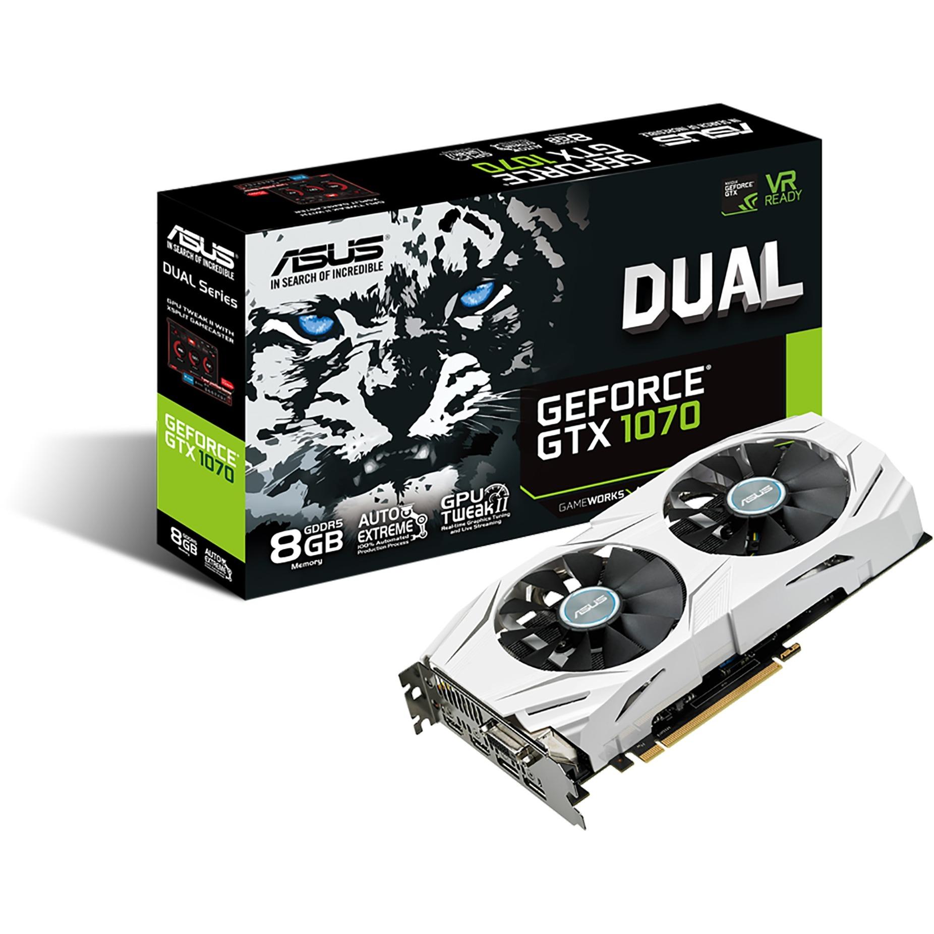 DUAL-GTX1070-8G GeForce GTX 1070 8GB GDDR5, Tarjeta gráfica