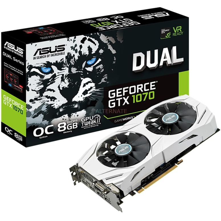 DUAL-GTX1070-O8G GeForce GTX 1070 8GB GDDR5, Tarjeta gráfica