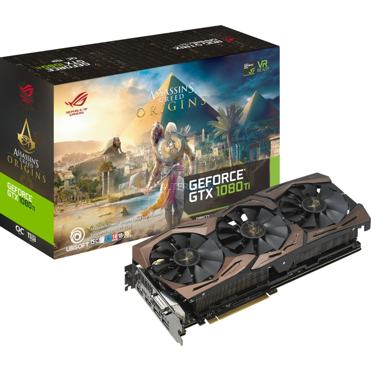 GeForce GTX 1080 Ti STRIX AC ORIGINS, Tarjeta gráfica