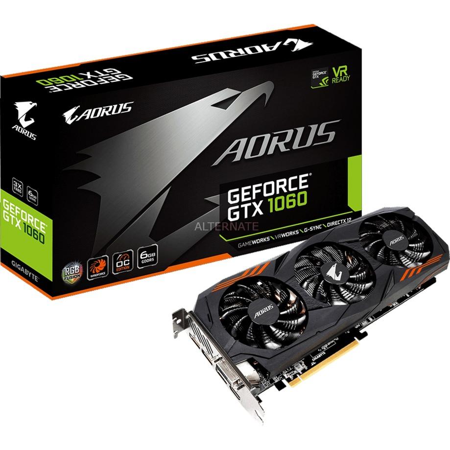 AORUS GeForce GTX 1060 6G (rev. 2.0) GeForce GTX 1060 6GB GDDR5, Tarjeta gráfica