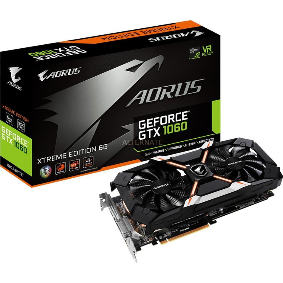 AORUS GeForce GTX 1060 Xtreme Edition 6G (rev. 2.0) GeForce GTX 1060 6GB GDDR5, Tarjeta gráfica