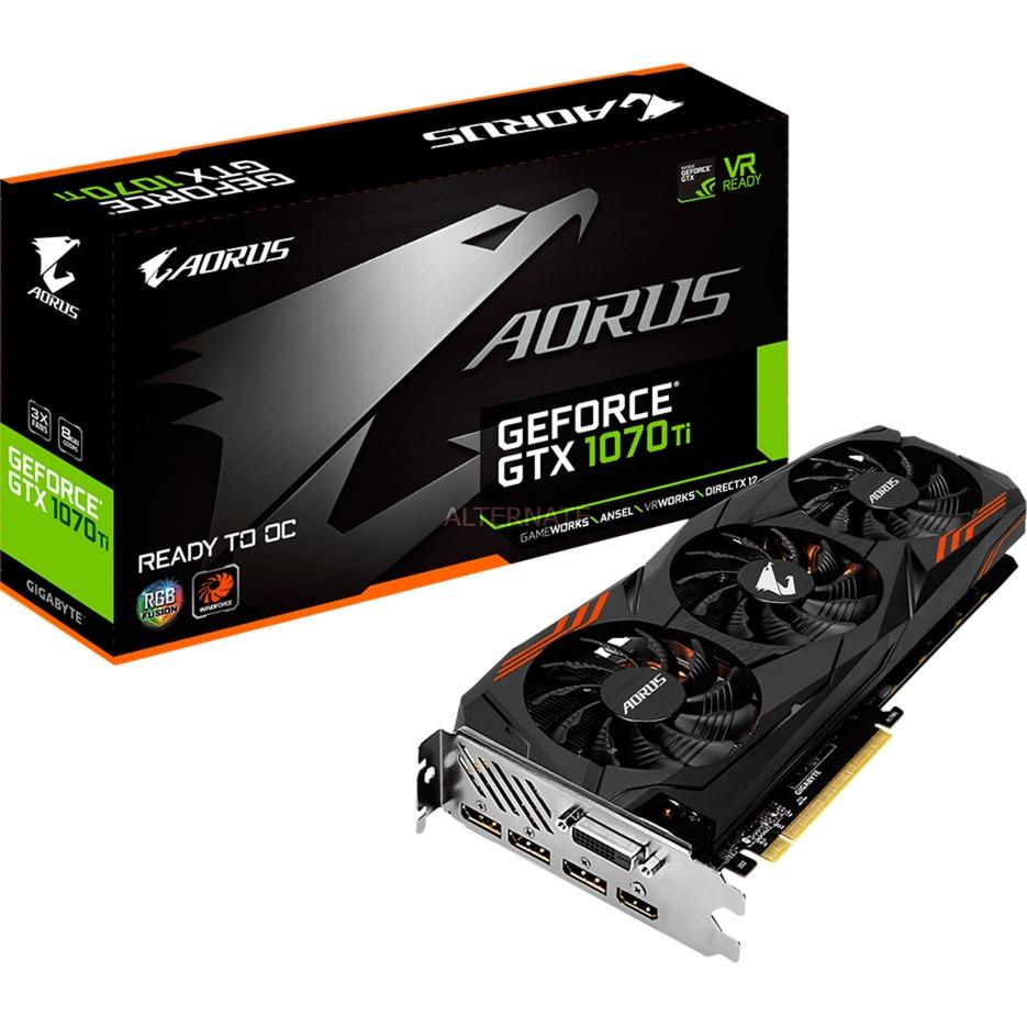 AORUS GeForce GTX 1070Ti 8G GeForce GTX 1070 Ti 8GB GDDR5, Tarjeta gráfica