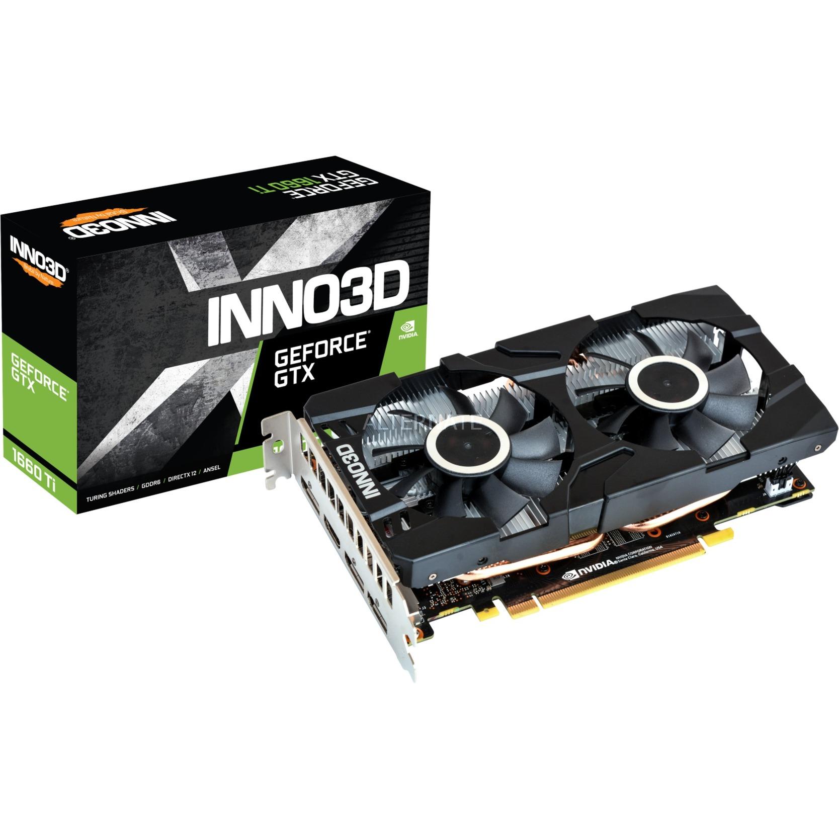 N166T2-06D6-1710VA15 tarjeta gráfica GeForce GTX 1660 Ti 6 GB GDDR6
