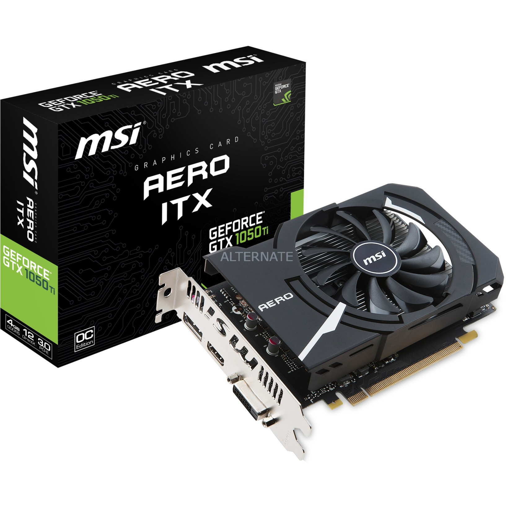 GeForce GTX 1050 Ti AERO ITX 4G OC, Tarjeta gráfica