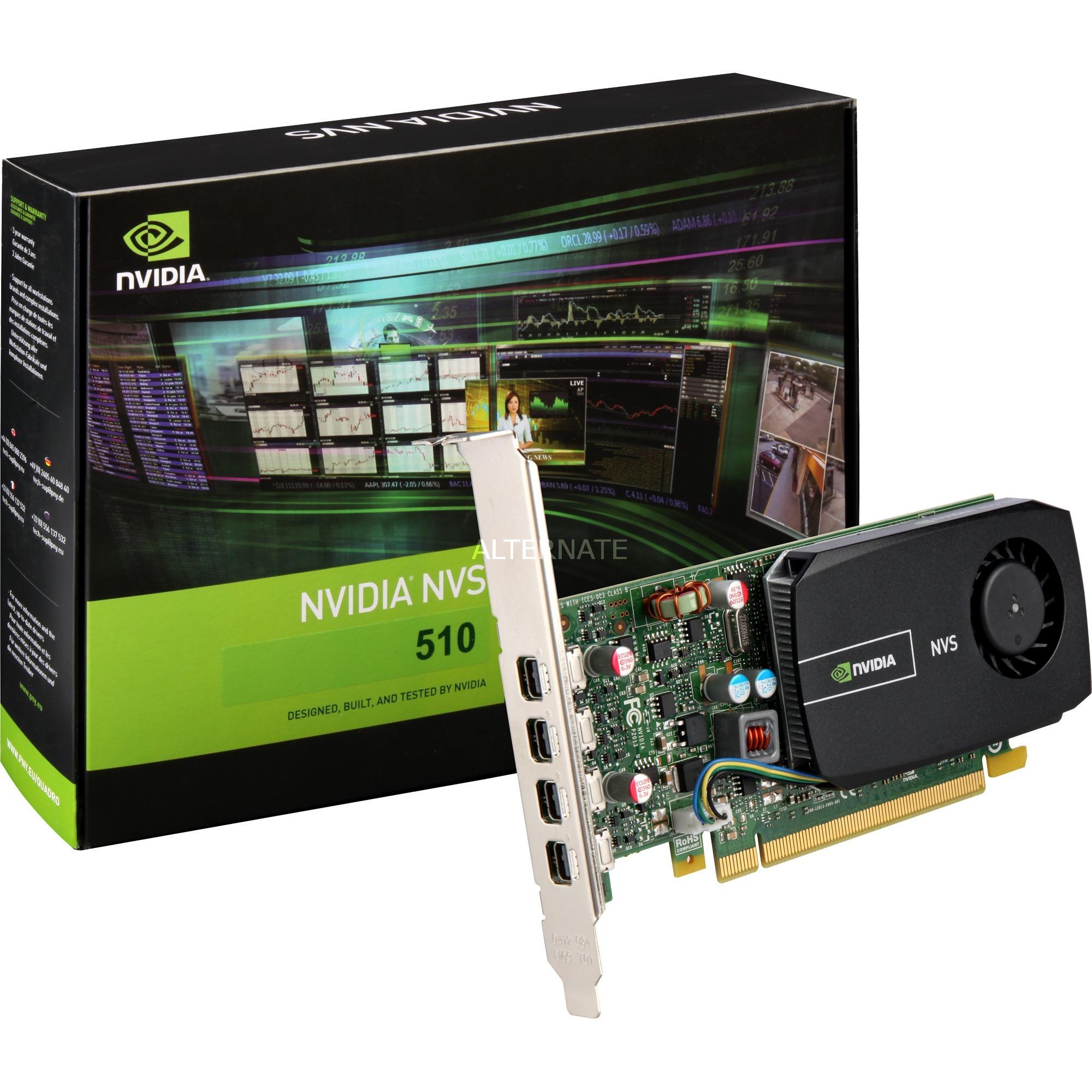 VCNVS510DP-PB NVS 510 2GB GDDR3 tarjeta gráfica