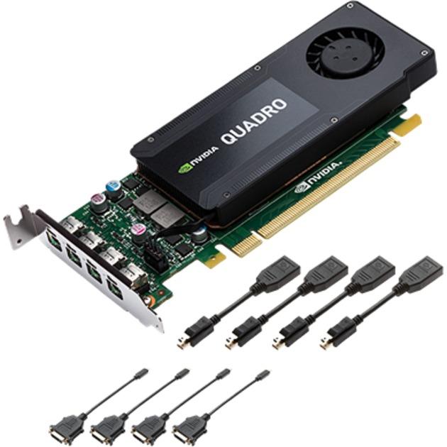 VCQK1200DVI-PB LP Quadro K1200 4 GB GDDR5, Tarjeta gráfica