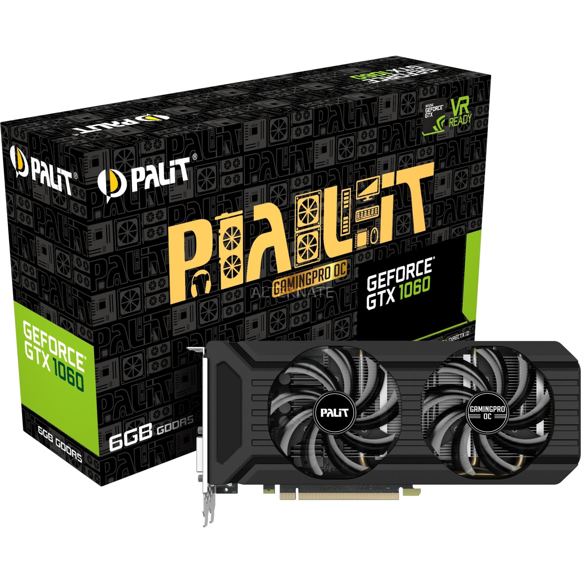 GeForce GTX 1060 GamingPro OC, Tarjeta gráfica