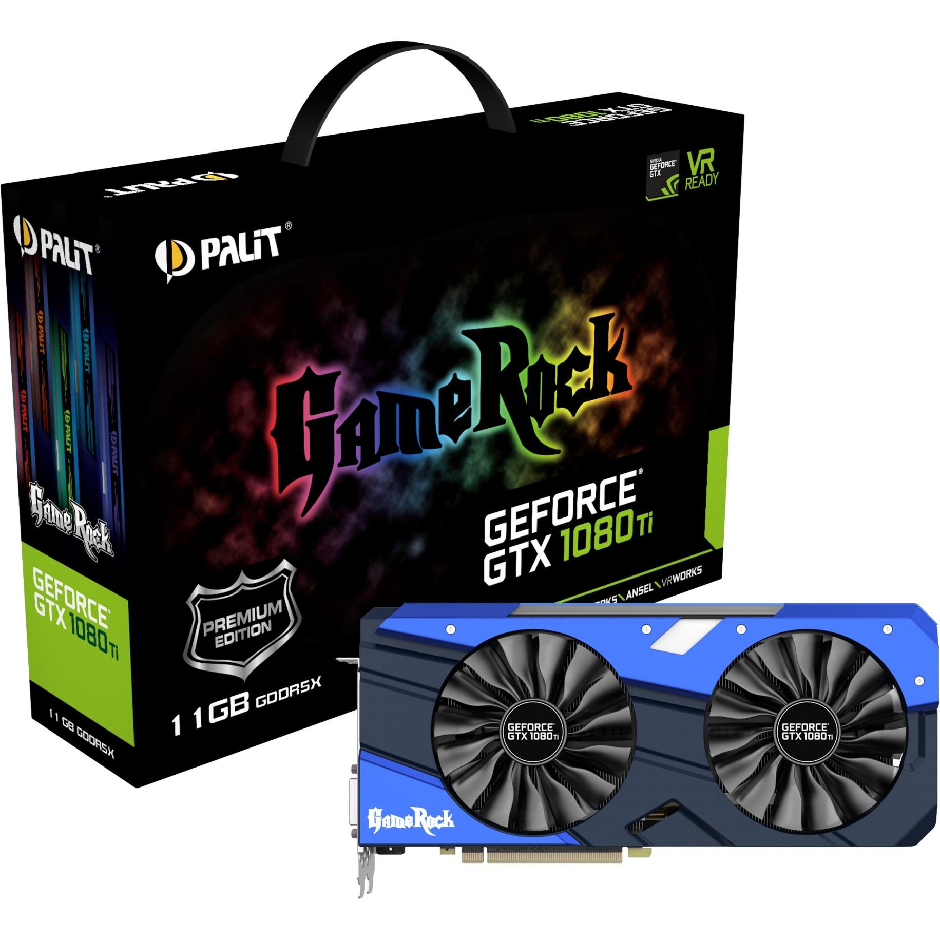 GeForce GTX 1080 Ti GameRock Premium Edition GeForce GTX 1080 TI 11GB GDDR5X, Tarjeta gráfica