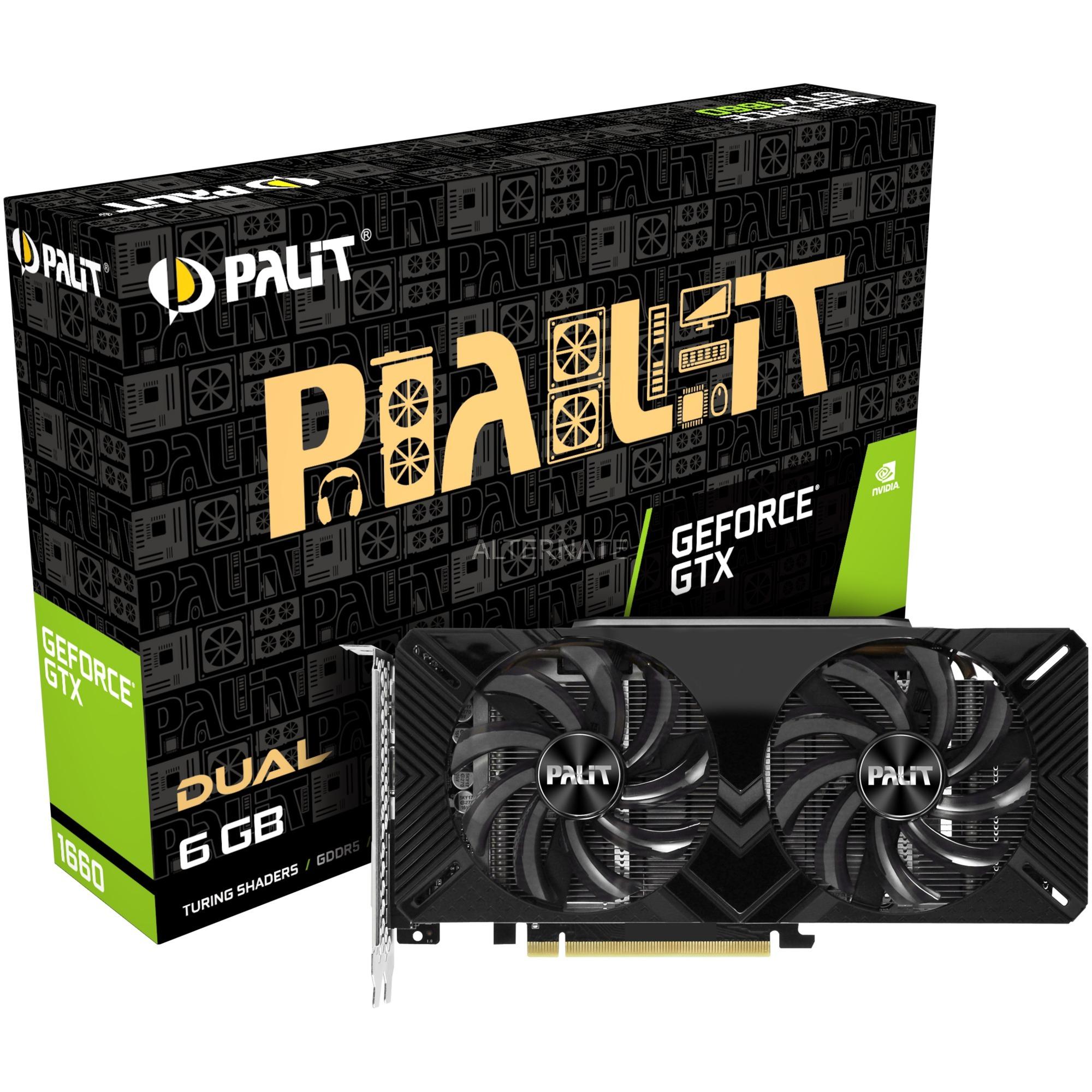 GeForce GTX 1660 Dual 6 GB GDDR5, Tarjeta gráfica