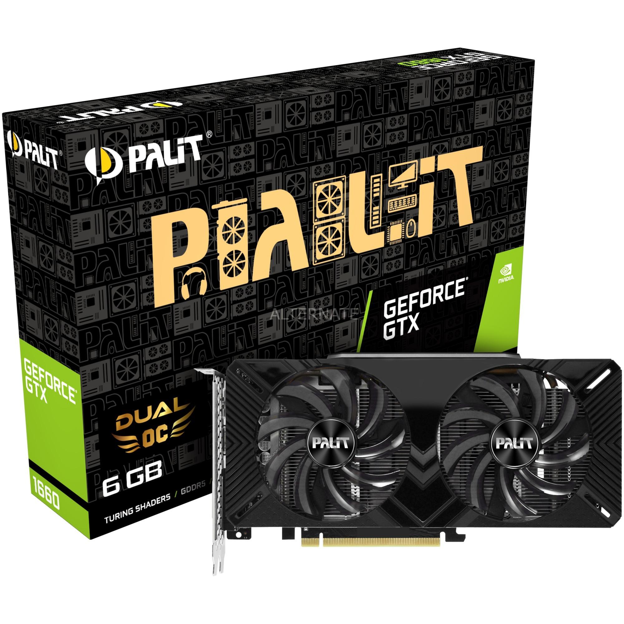 GeForce GTX 1660 Dual OC 6 GB GDDR5, Tarjeta gráfica
