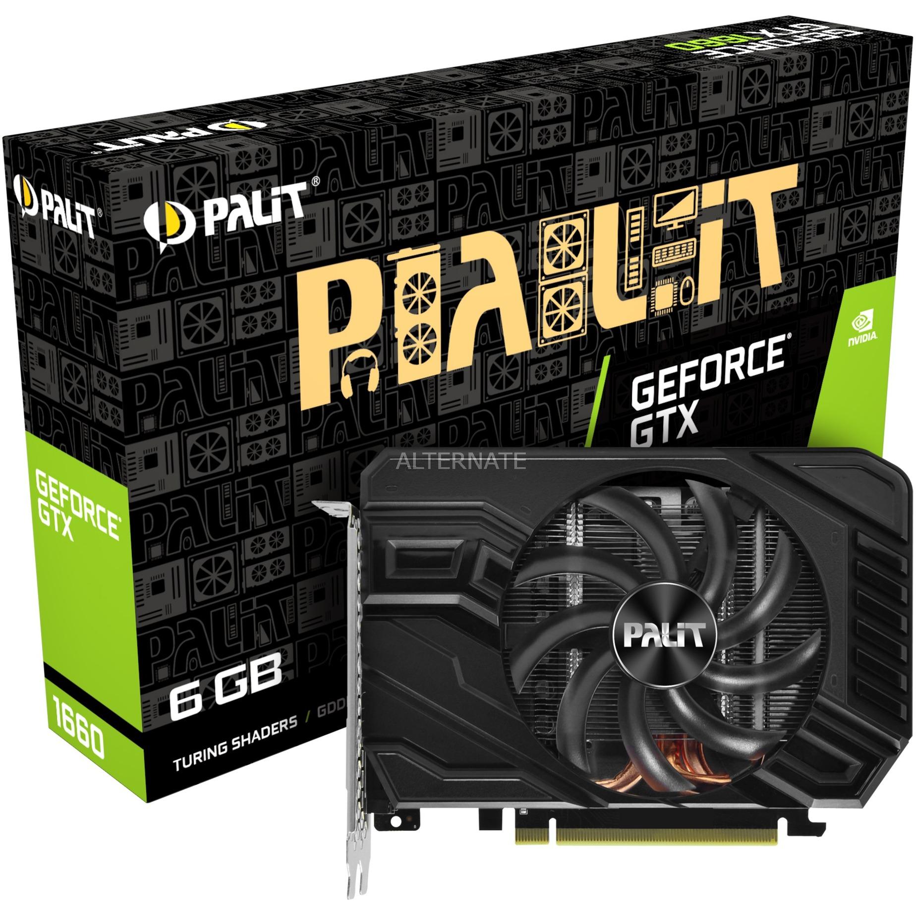 NE51660018J9-165F tarjeta gráfica GeForce GTX 1660 6 GB GDDR5