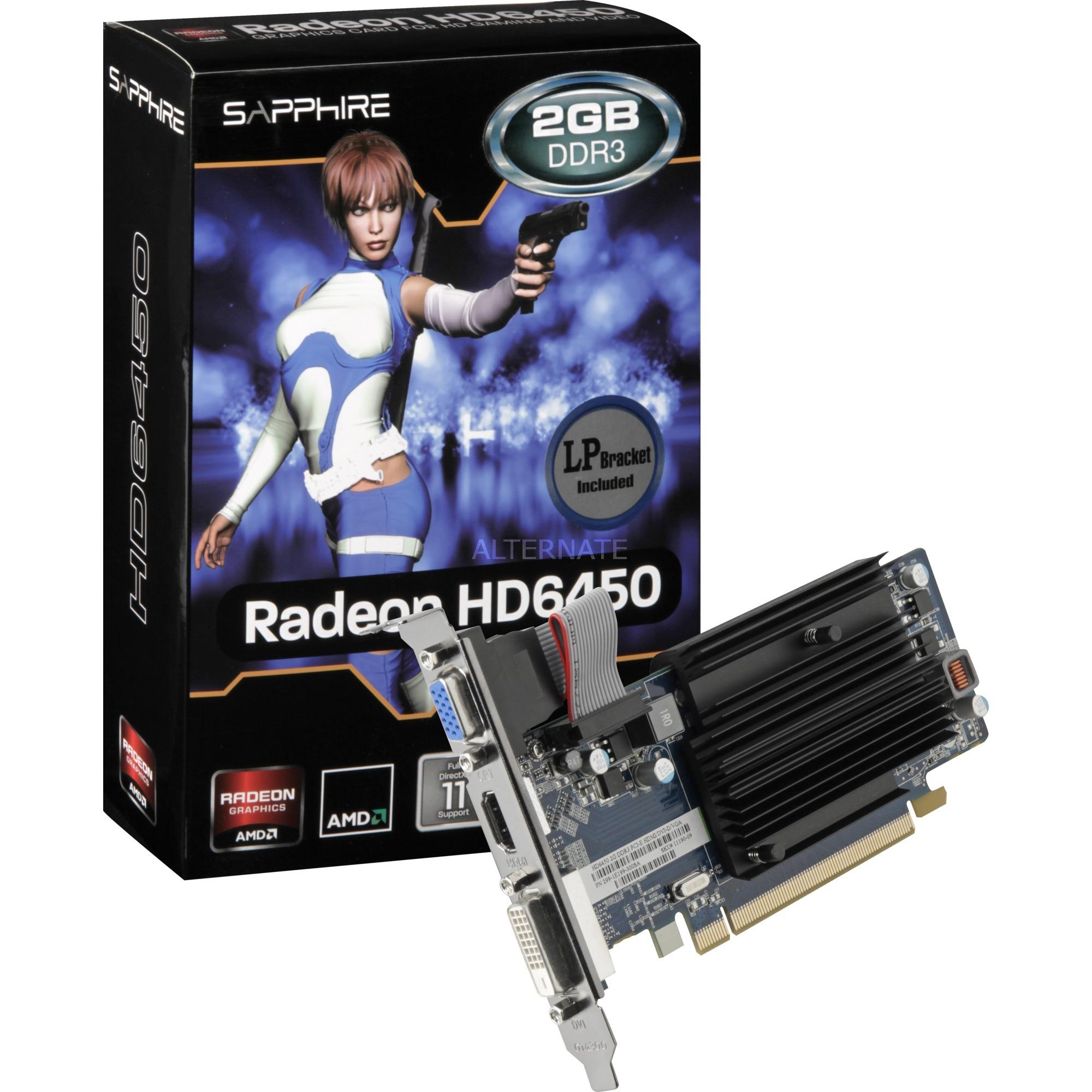 11190-09-20G tarjeta gráfica Radeon HD6450 2 GB GDDR3