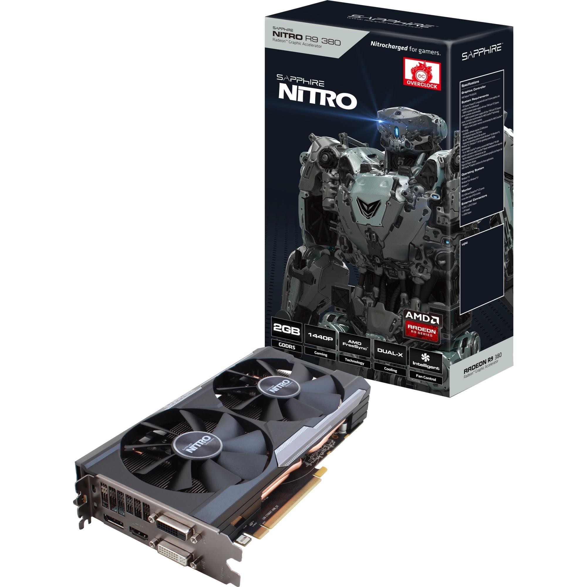 NITRO R9 380 2GB Radeon R9 380 2GB GDDR5, Tarjeta gráfica