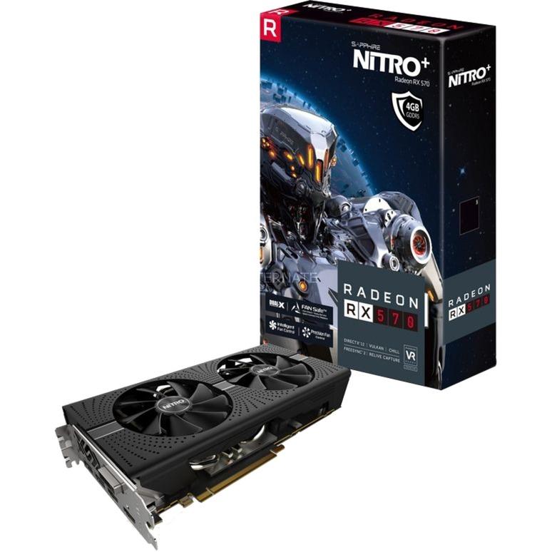 NITRO+ Radeon RX 570 4GB GDDR5, Tarjeta gráfica