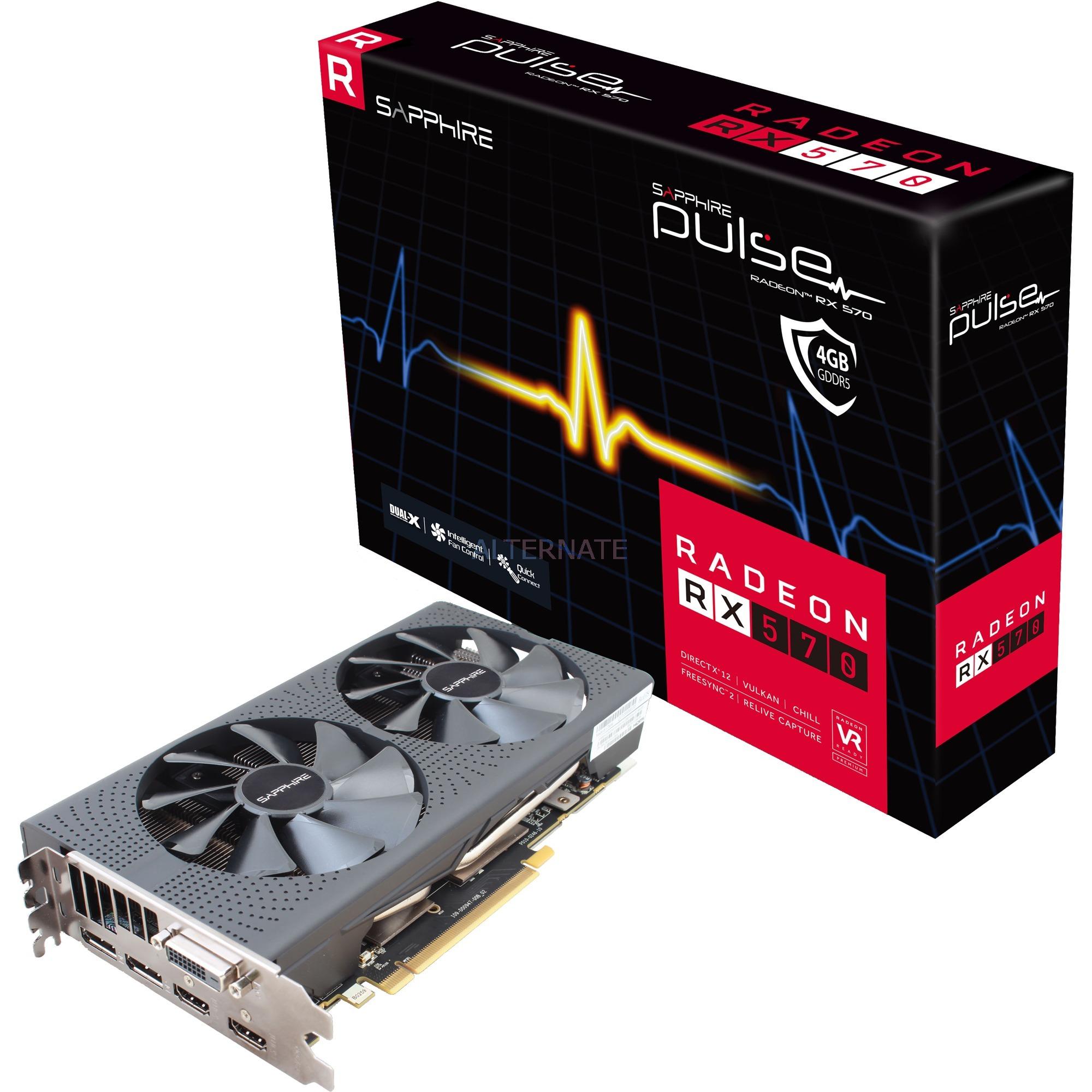 RADEON RX 570 4GB GDDR5 PULSE Radeon RX 570 4GB GDDR5, Tarjeta gráfica