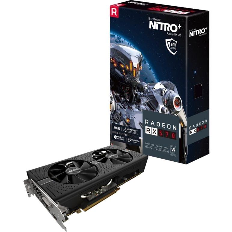 RADEON RX 570 8GB GDDR5 NITRO+, Tarjeta gráfica