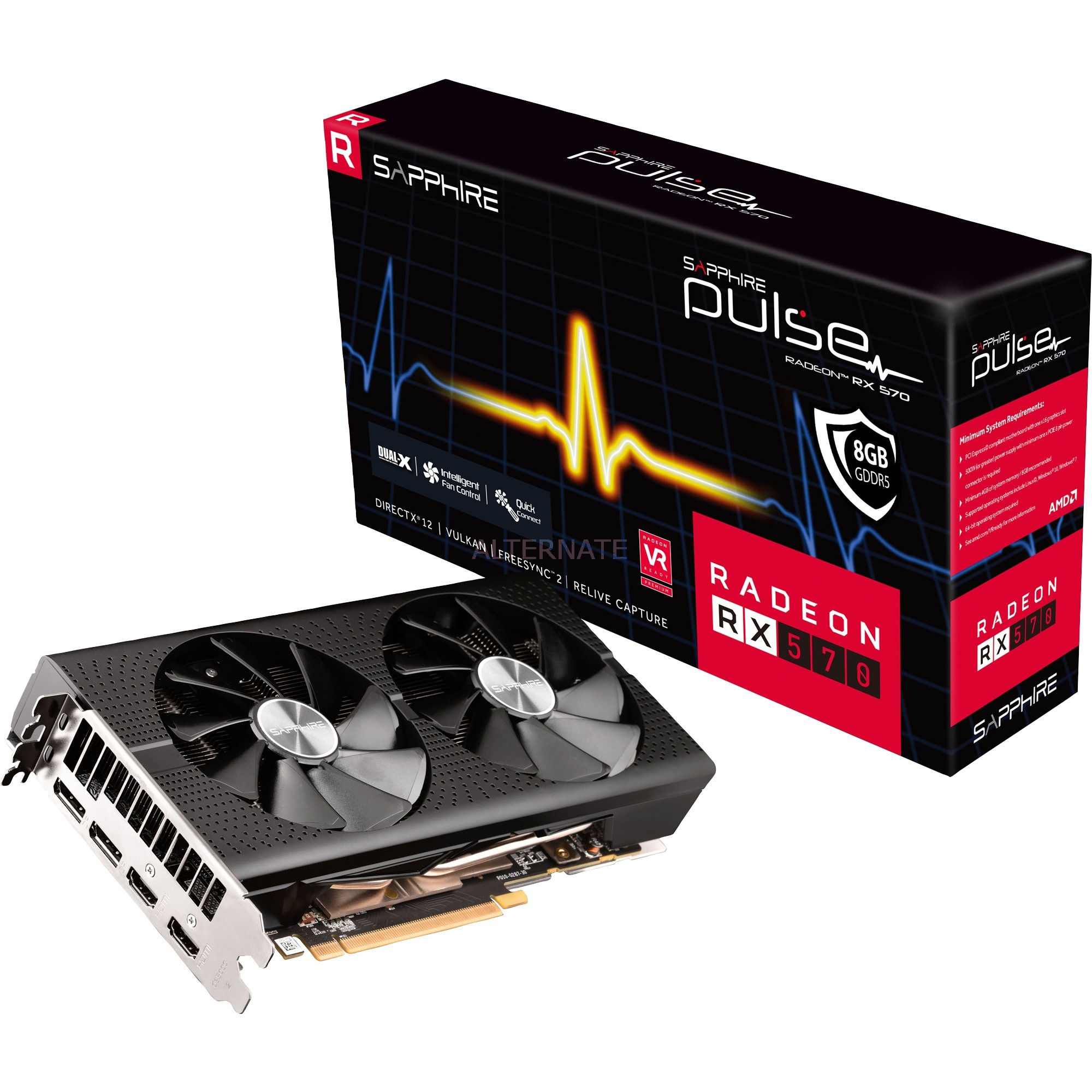 Radeon RX 570 PULSE, Tarjeta gráfica