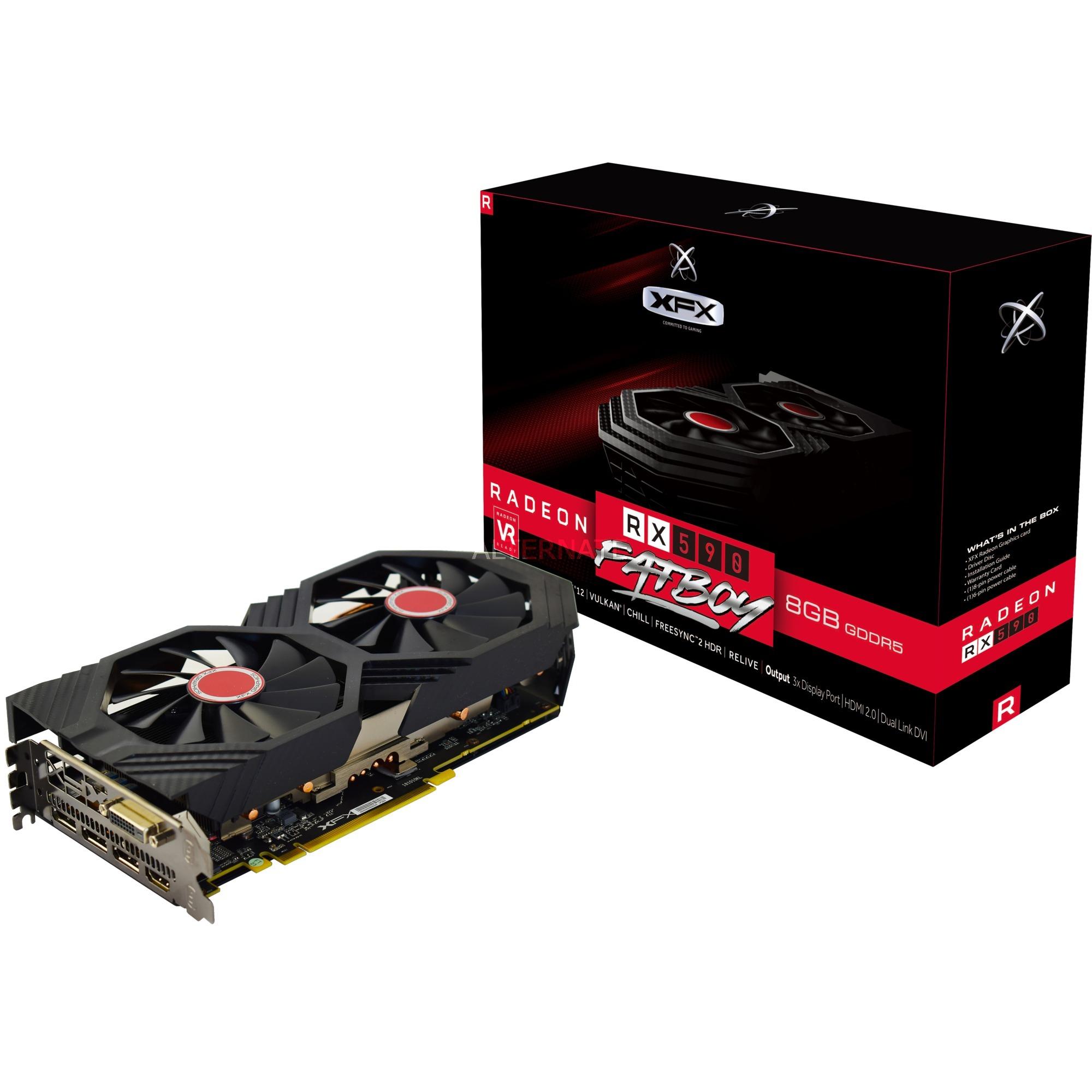 RX-590P8DFD6 tarjeta gráfica Radeon RX 590 8 GB GDDR5