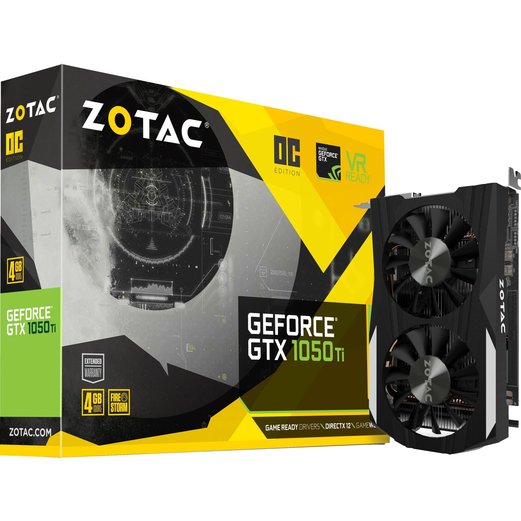 GeForce GTX 1050 Ti OC Edition 4 GB GDDR5, Tarjeta gráfica