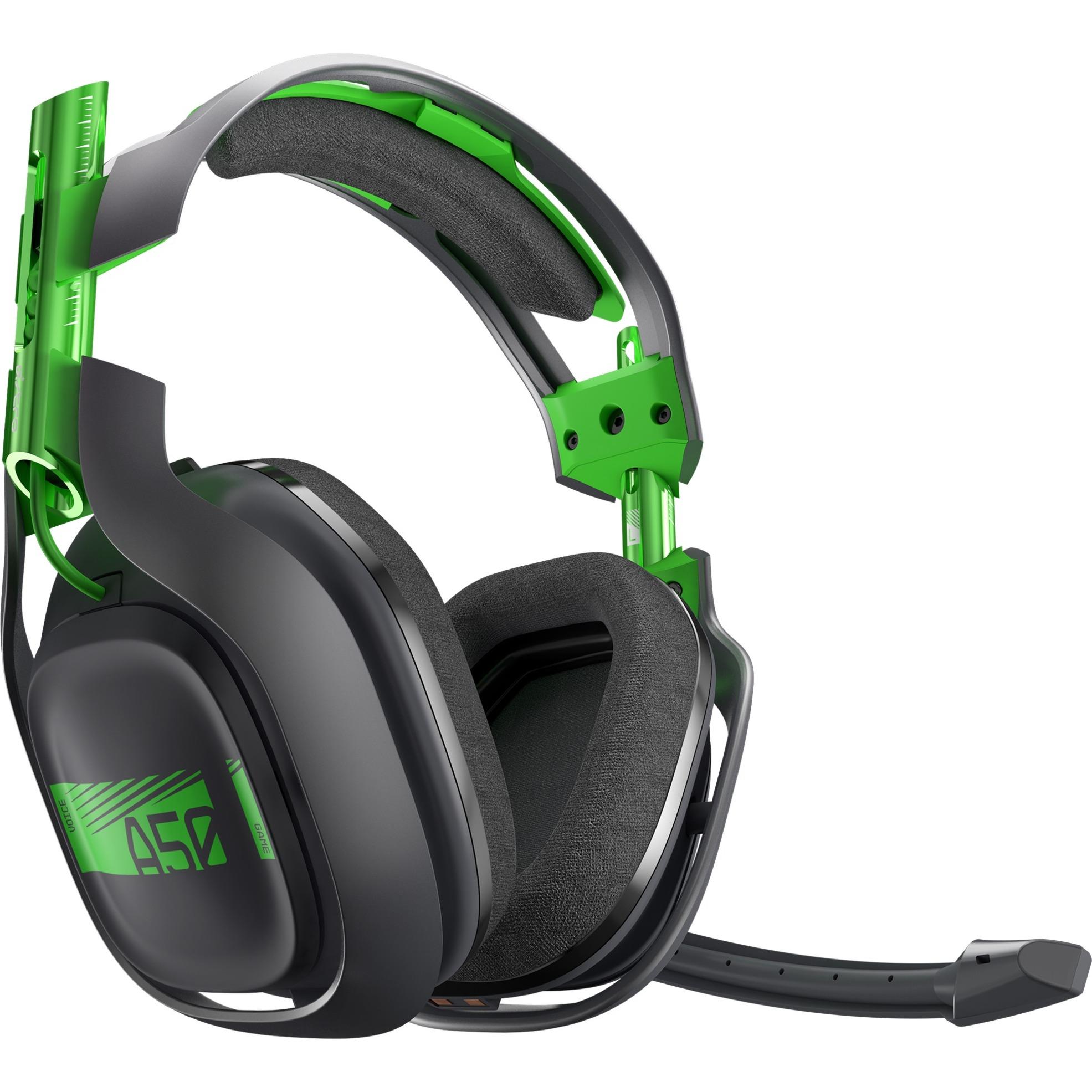 A50 Wireless Binaurale Diadema Verde, Gris auricular con micrófono, Auriculares con micrófono