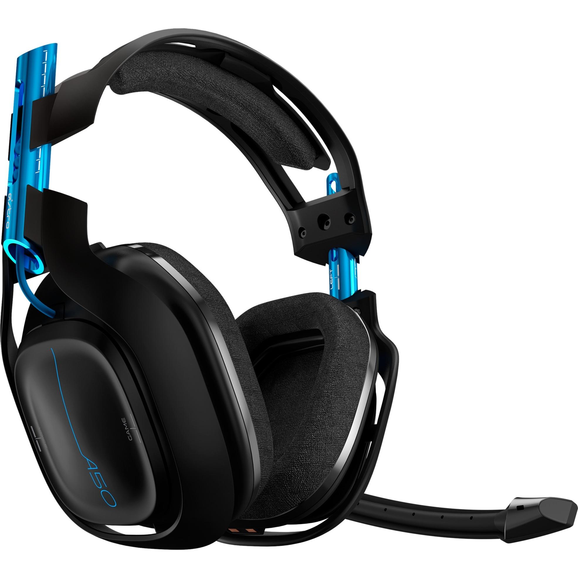 A50 Wireless Headset + Base Station Auriculares Diadema Negro, Azul, Auriculares con micrófono