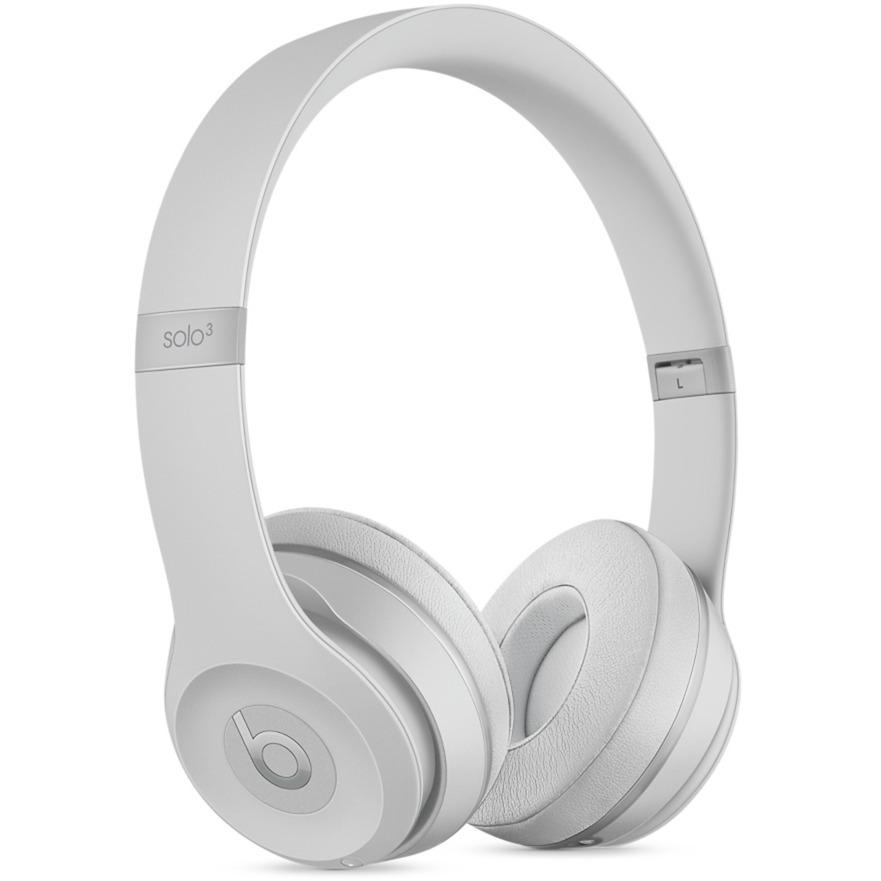 Beats Solo3 auriculares para móvil Binaural Diadema Plata Inalámbrico y alámbrico