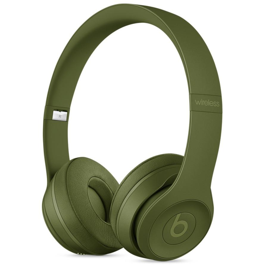 Beats Solo3 auriculares para móvil Binaural Diadema Verde Inalámbrico y alámbrico