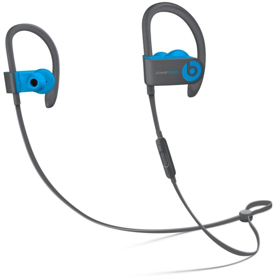 Powerbeats3 auriculares para móvil Binaural gancho de oreja, Dentro de oído Negro, Azul Inalámbrico, Auriculares con micrófono