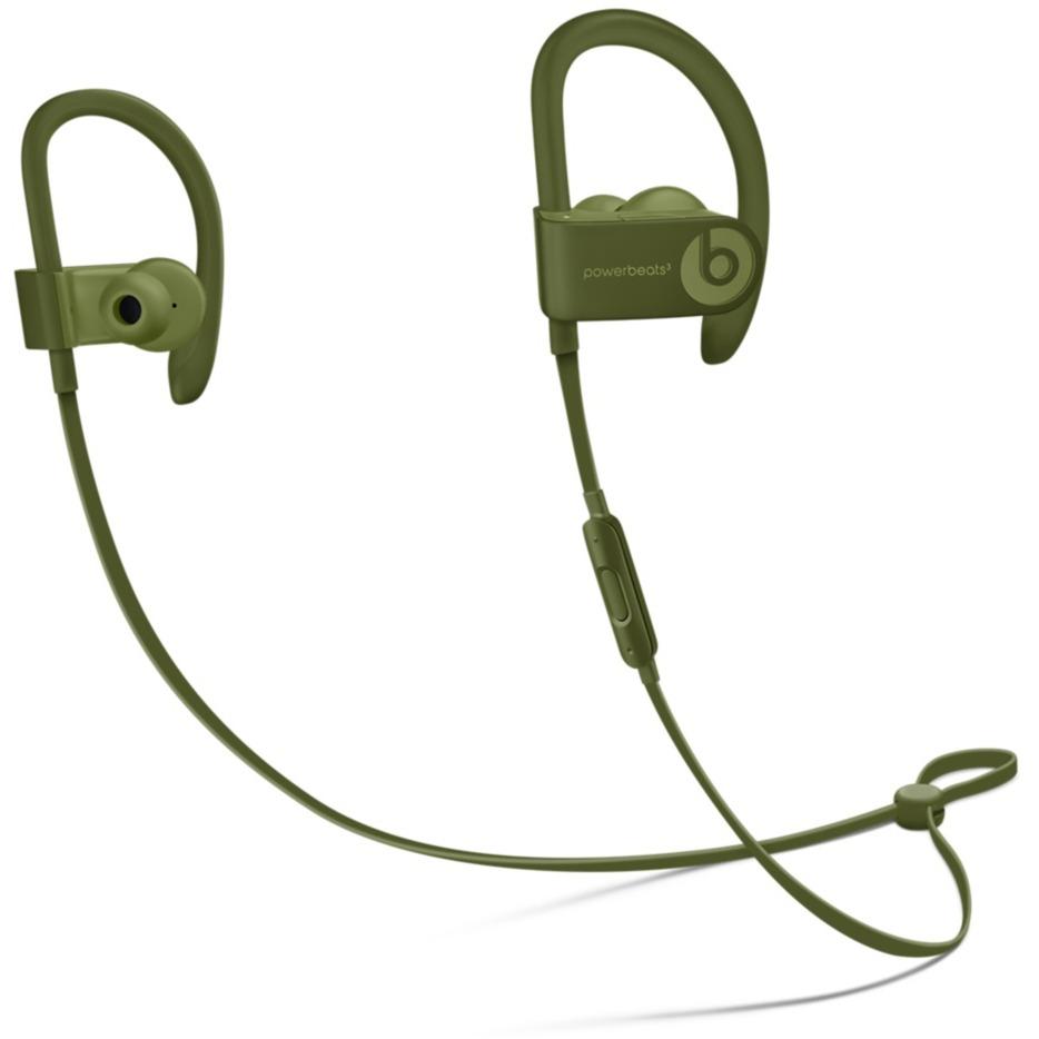 Powerbeats3 auriculares para móvil Binaural gancho de oreja, Dentro de oído Verde Inalámbrico