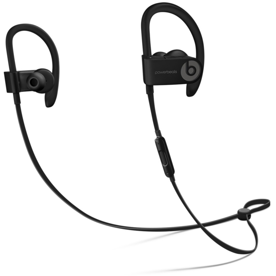 Powerbeats 3 auriculares para móvil Binaural gancho de oreja, Dentro de oído Negro Inalámbrico, Auriculares con micrófono
