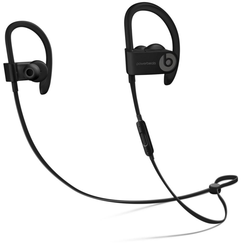 Powerbeats 3 gancho de oreja, Dentro de oído Binaurale Inalámbrico Negro auriculares para móvil, Auriculares con micrófono