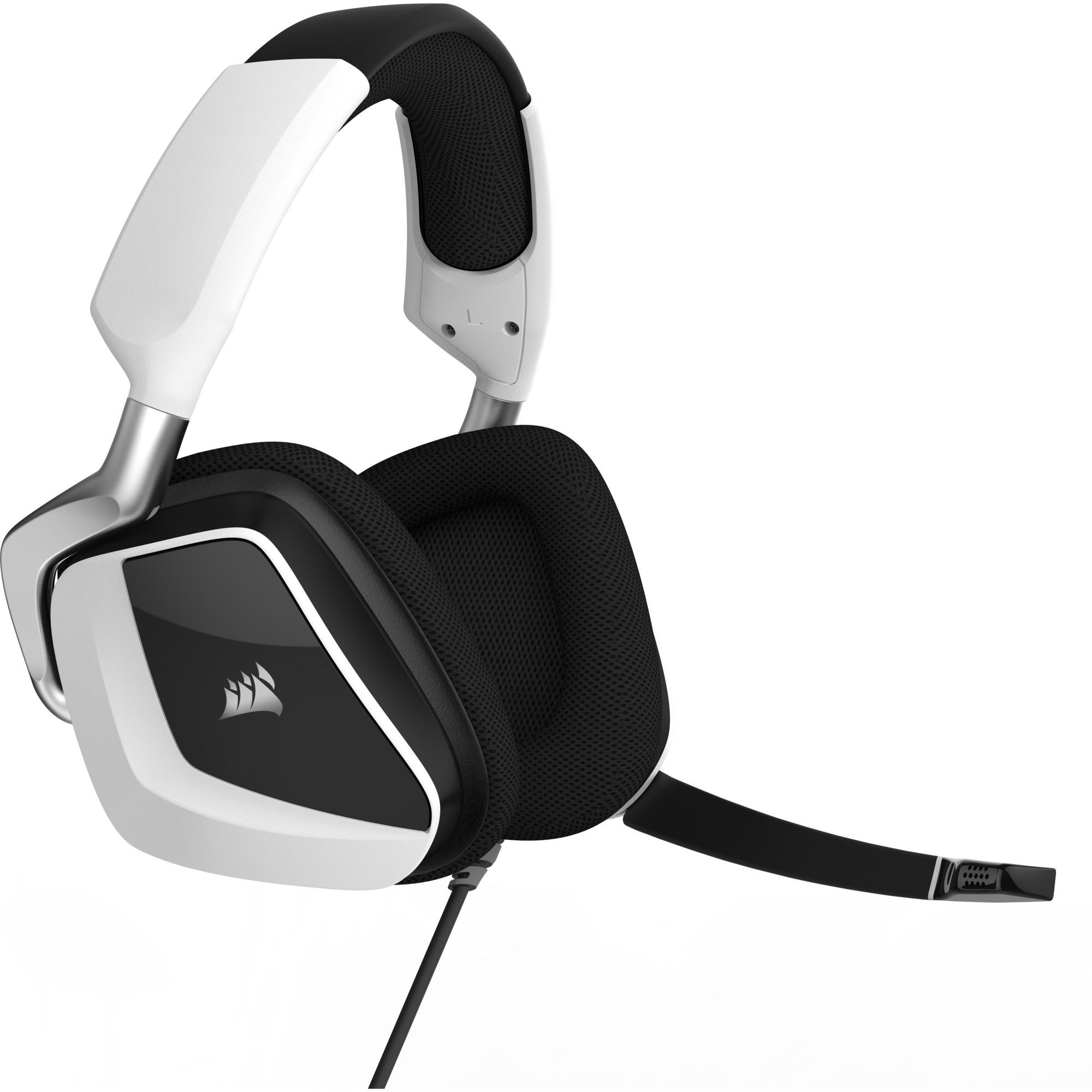 VOID PRO RGB USB Premium Binaurale Diadema Blanco auricular con micrófono, Auriculares...