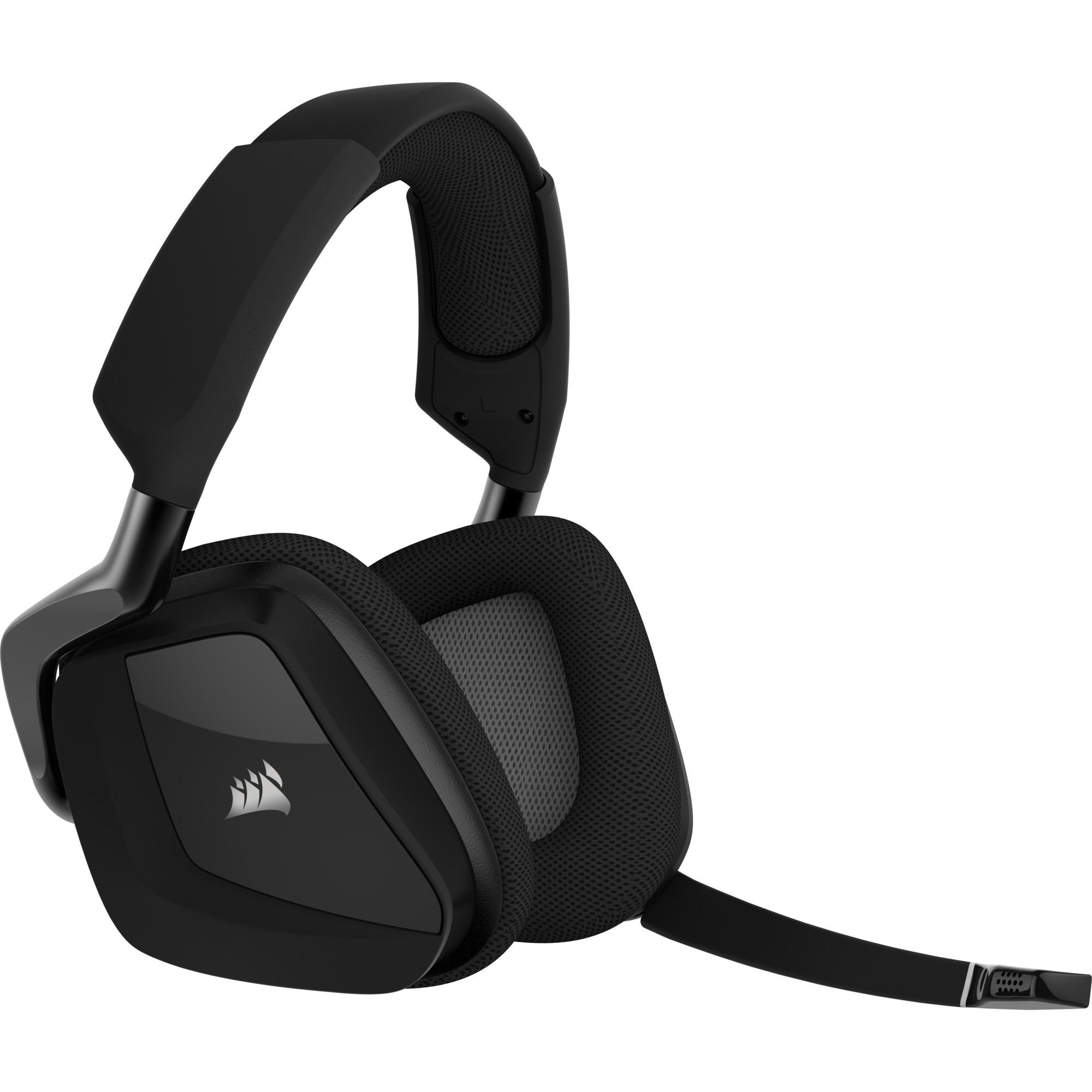 VOID PRO RGB Wireless Premium Binaurale Diadema Carbono auricular con micrófono, Auriculares...