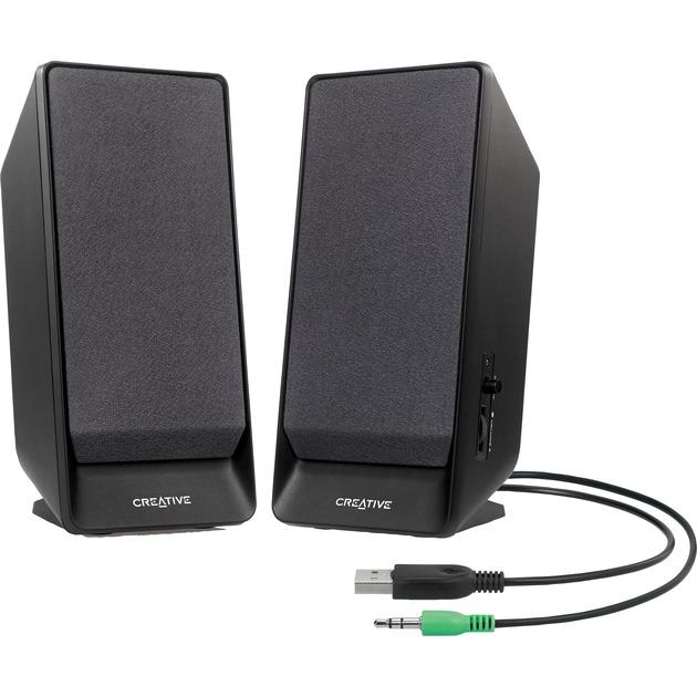 A50 Stereo portable speaker 1.6W Negro, Altavoces de PC
