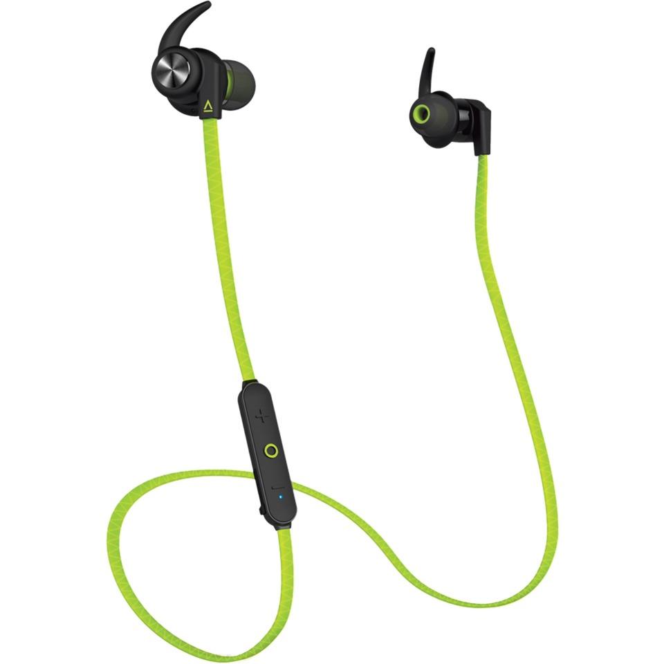 Creative Outlier Sports Dentro de oído Binaurale Inalámbrico Verde auriculares para móvil, Auriculares con micrófono