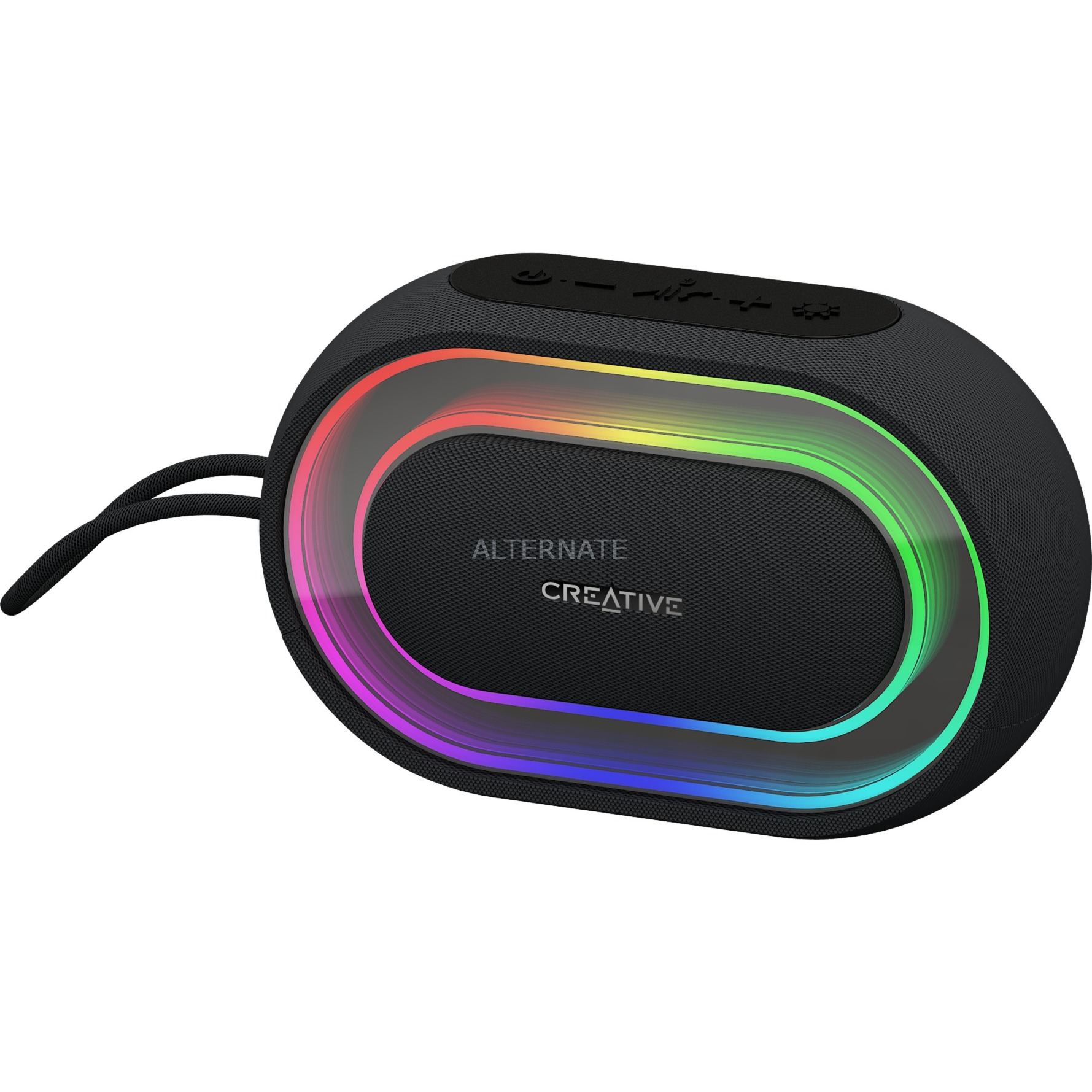 Halo Altavoz portátil estéreo Negro