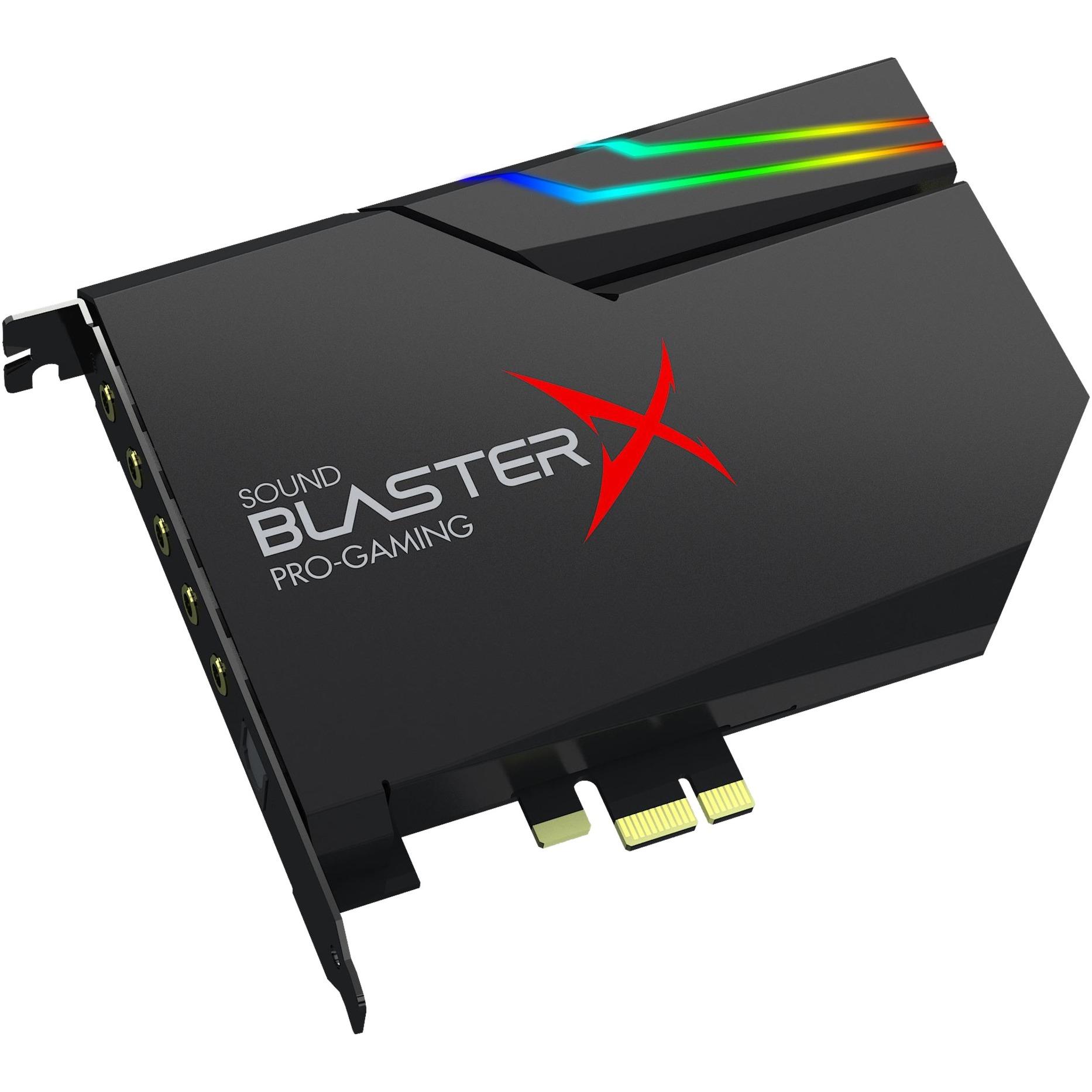 Sound BlasterX AE-5 Interno 5.1 canales PCI-E, Tarjeta de sonido