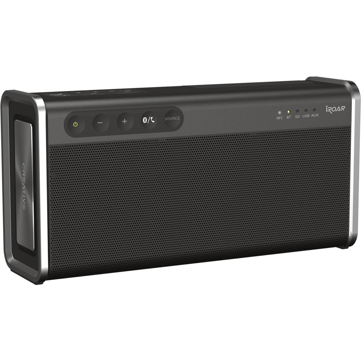 iRoar Go Altavoz portátil estéreo Negro