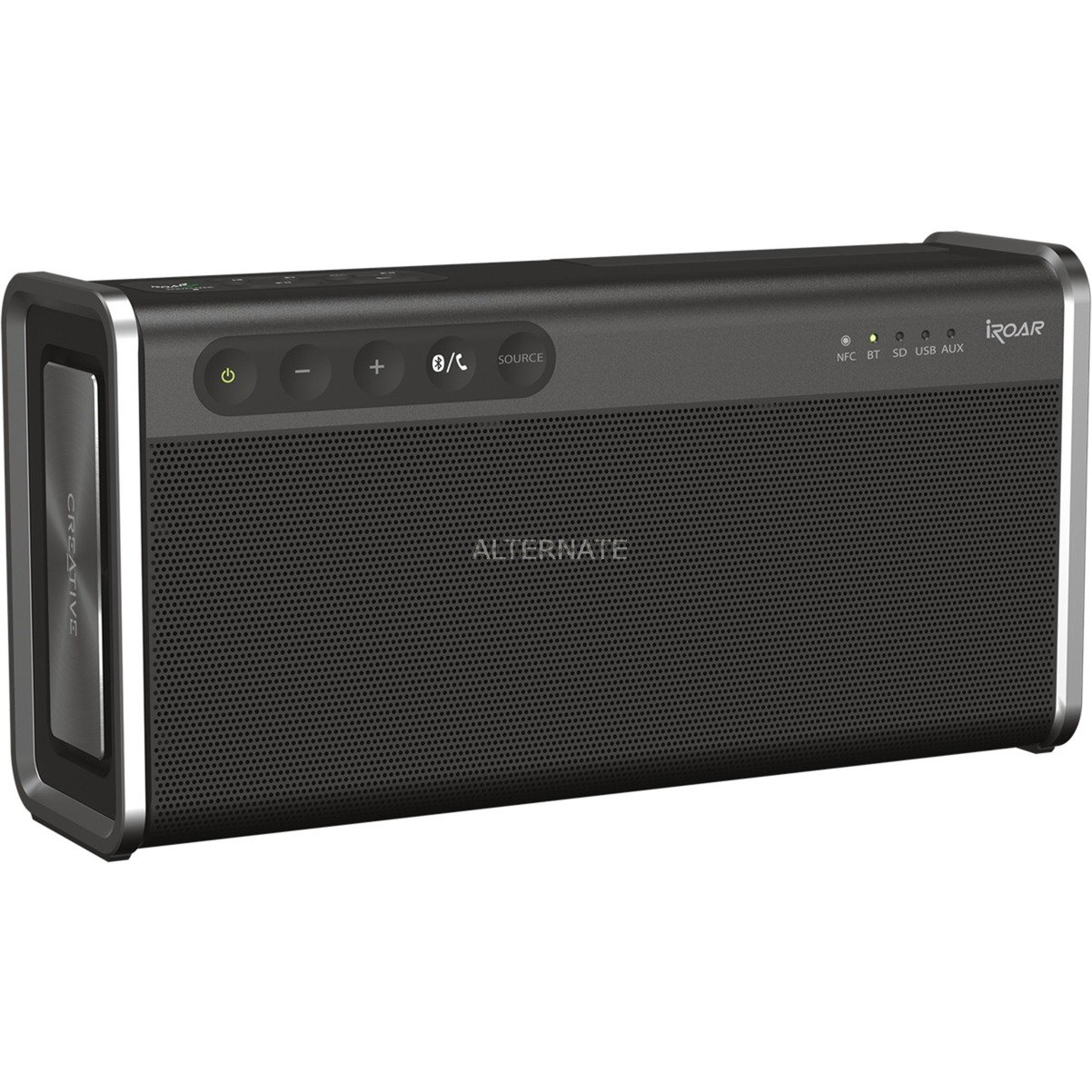 iRoar Go Stereo portable speaker Negro, Altavoz