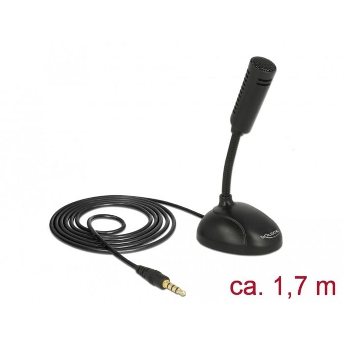 65872 micrófono Mobile phone/smartphone microphone Alámbrico Negro