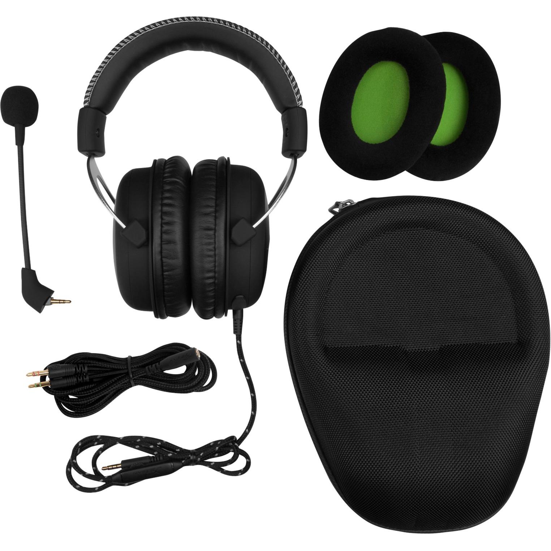 CloudX Pro Gaming Binaurale Diadema Negro auricular con micrófono, Auriculares con micrófono
