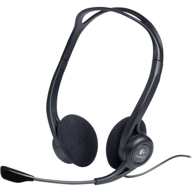 960 USB Binaural Diadema Negro auricular con micrófono, Auriculares con micrófono