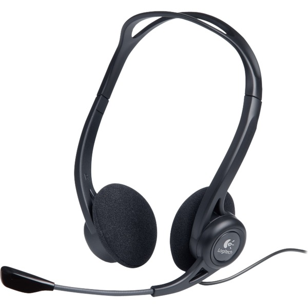 960 USB auricular con micrófono Diadema Binaural Negro, Auriculares con micrófono