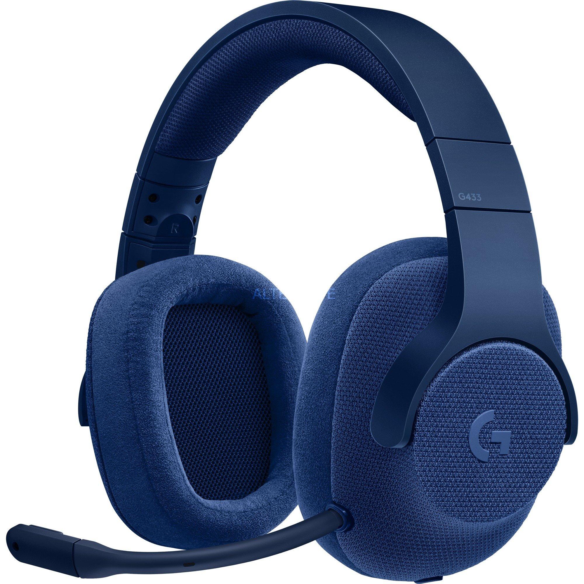 G433 Binaurale Diadema Azul auricular con micrófono, Auriculares con micrófono