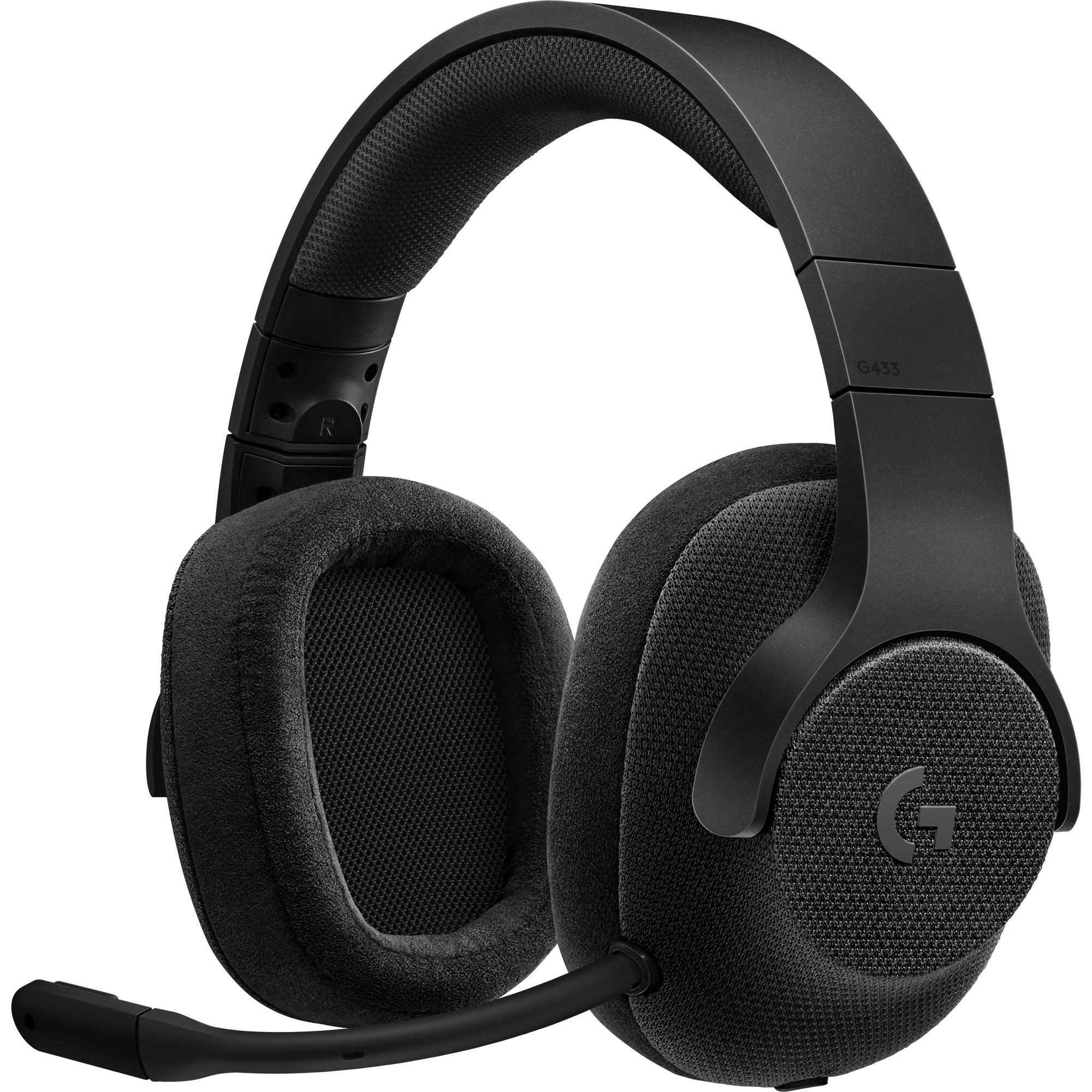 G433 Binaurale Diadema Negro auricular con micrófono, Auriculares con micrófono